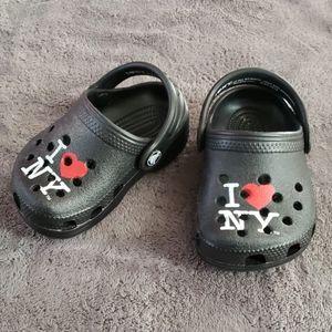 I heart NY Crocs